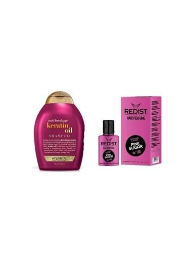Organix Organix Anti-Breakage Keratin Oil Kırılma Karşıtı Şampuan 385 Ml+Redist Pink Sugar No:180 Saç Parfümü 50 Ml Renksiz